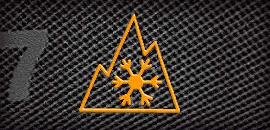 Značení zimních pneumatik Symbol Alpský štít
