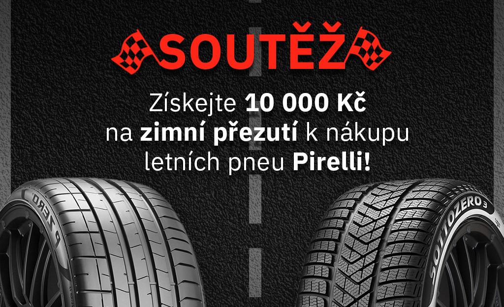 Soutěž Pirelli zimní pneumatiky v ceně 10 000 Kč