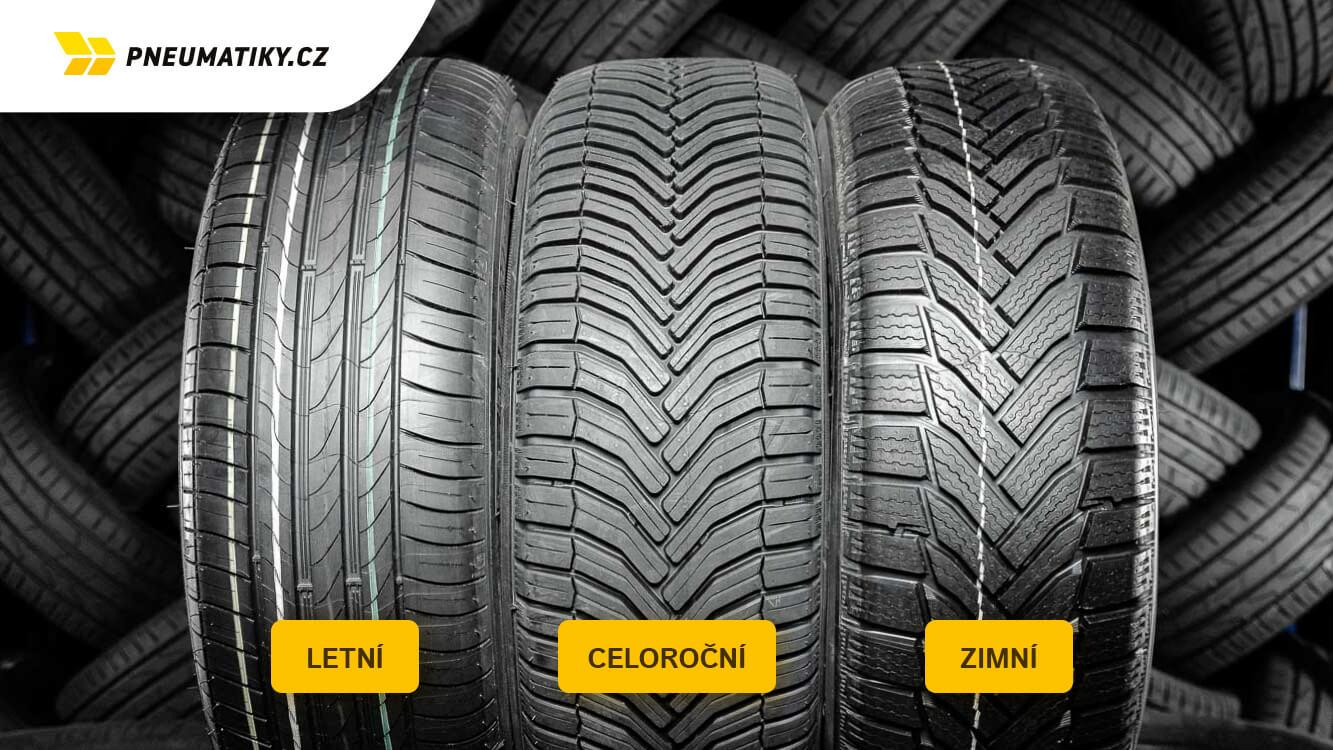 Celoroční pneu, rozdíl mezi celoroční, letní a zimní pneu, pneumatiky