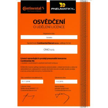 Continental SportContact 3 235/45 R17 97 W dojezdová zesílená fr letní - 2