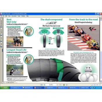 Michelin PILOT ROAD 2 180/55 ZR17 73 W TL zadní sportovní/cestovní - 3