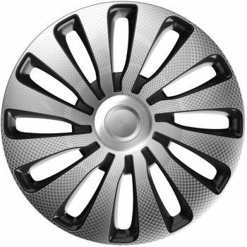 J-Tec Sepang Carbon Silver Black 16'' Poklice stříbrno/černá - sada 4 ks