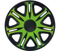 Poklice zeleno/černá - sada 4 ks