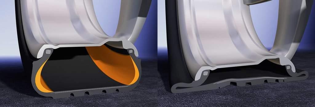 ssr technologie v pneumatice vs pneu bez SSR
