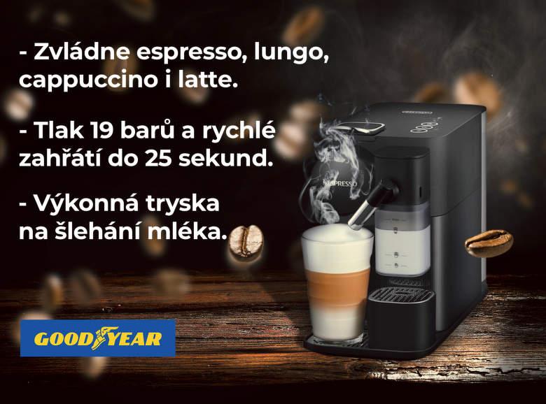 Soutěž kávovary Nespresso pneumatiky Goodyear