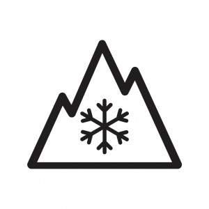 Symbol záběrových vlastností na sněhu: 3PMSF